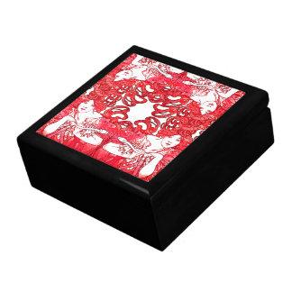 Art Nouveau Mucha Lady Red Hair Bike Gift Box