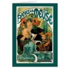 Art Nouveau: Mucha Poster Art - Bieres de la Meuse Card