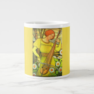 Art Nouveau Musical Design Jumbo Mug