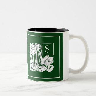 Art Nouveau Narcissus Monogram Mug