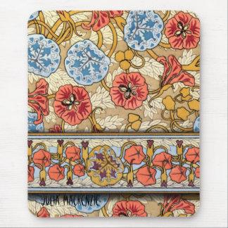 Art Nouveau Nasturtium Mouse Pad