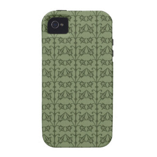 Art Nouveau Nature Themed Leaves Vibe iPhone 4 Cover