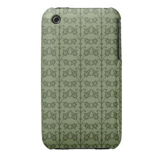 Art Nouveau Nature Themed Leaves Case-Mate iPhone 3 Cases