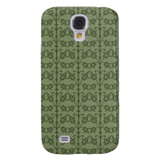 Art Nouveau Nature Themed Leaves Galaxy S4 Covers