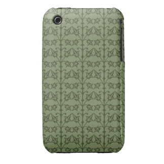 Art Nouveau Nature Themed Leaves iPhone 3 Covers