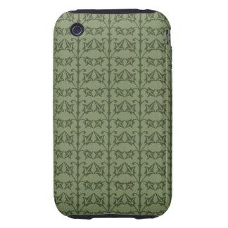 Art Nouveau Nature Themed Leaves iPhone 3 Tough Case