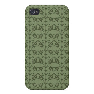 Art Nouveau Nature Themed Leaves iPhone 4/4S Cover