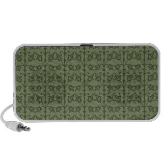 Art Nouveau Nature Themed Leaves Travelling Speakers