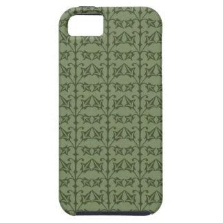 Art Nouveau Nature Themed Leaves Tough iPhone 5 Case