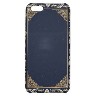 art nouveau, navy blue, gold,antique,belle époque, cover for iPhone 5C