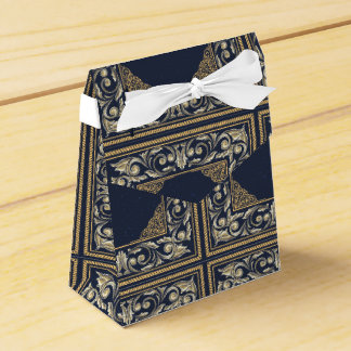 art nouveau, navy blue, gold,antique,belle époque, favour box