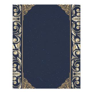 art nouveau, navy blue, gold,antique,belle époque, flyer