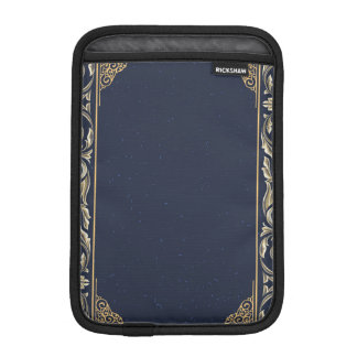 art nouveau, navy blue, gold,antique,belle époque, iPad mini sleeve