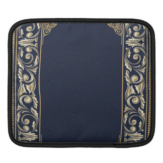 art nouveau, navy blue, gold,antique,belle époque, iPad sleeve