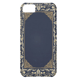 art nouveau, navy blue, gold,antique,belle époque, iPhone 5C case