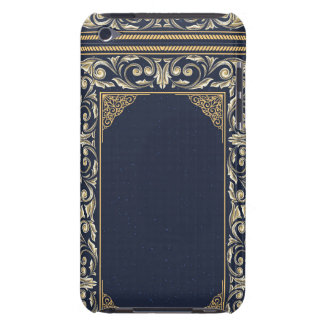 art nouveau, navy blue, gold,antique,belle époque, iPod Case-Mate case