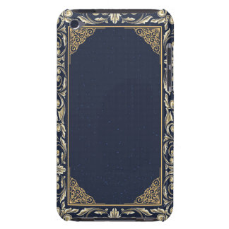art nouveau, navy blue, gold,antique,belle époque, iPod touch Case-Mate case