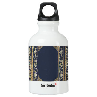 art nouveau, navy blue, gold,antique,belle époque, water bottle