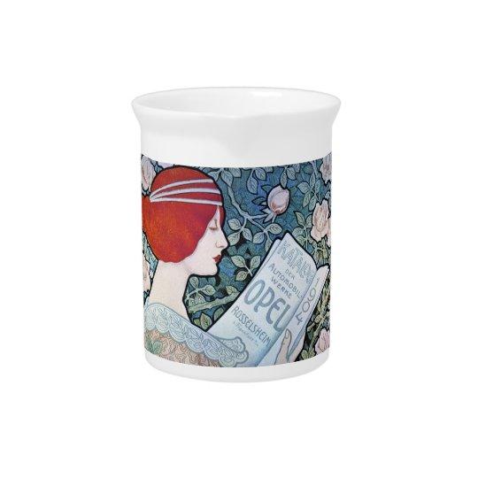 Art Nouveau Opel Katalog Porcelain Pitcher