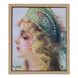 Art Nouveau Painting Beautiful woman Poster