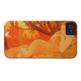 Art Nouveau painting inspired by Mucha Case-Mate iPhone 4 Cases