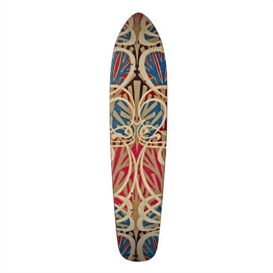 Art Nouveau Pattern #10 at Emporio Moffa 19.7 Cm Skateboard Deck