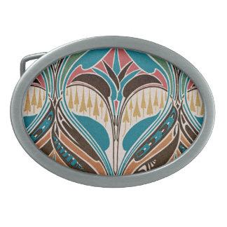 Art Nouveau Pattern #10 at Emporio Moffa Oval Belt Buckles