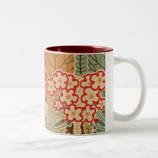 Art Nouveau Pattern #1 at Emporio Moffa Two-Tone Mug