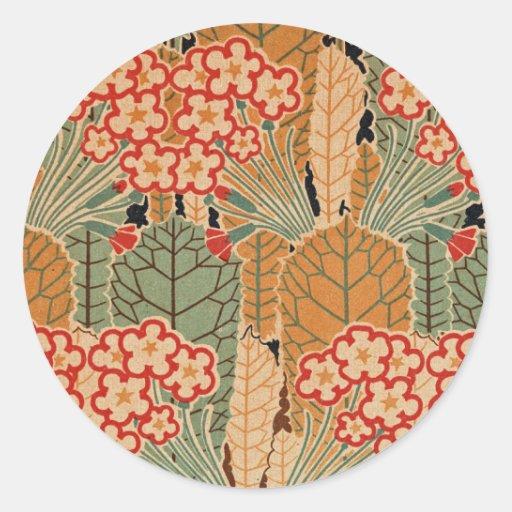 Art Nouveau Pattern #1 at Emporio Moffa Round Stickers