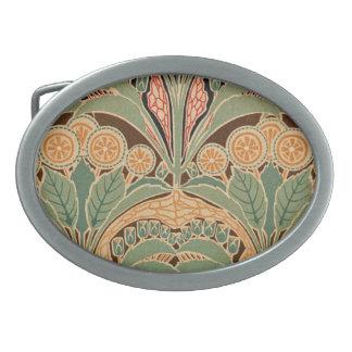 Art Nouveau Pattern #3 at Emporio Moffa Oval Belt Buckle