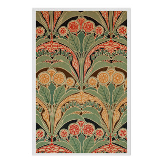 Art Nouveau Pattern 3 at Emporio Moffa Print