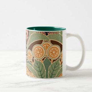 Art Nouveau Pattern #3 at Emporio Moffa Two-Tone Mug