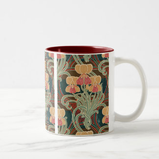 Art Nouveau Pattern #4 at Emporio Moffa Two-Tone Mug