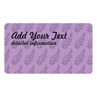 Art Nouveau pattern lilac 2 Pack Of Standard Business Cards