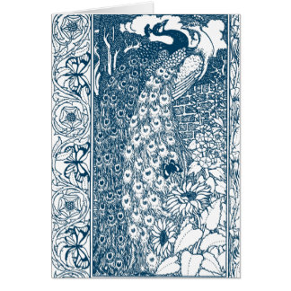 Art Nouveau Peacock Card