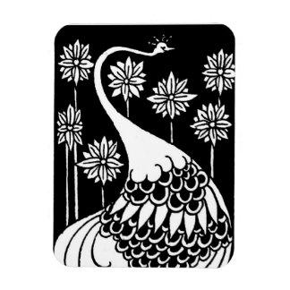 Art Nouveau Peacock  Magnet