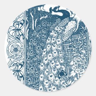 Art Nouveau Peacock Stickers