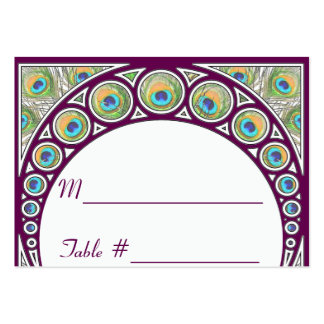 Art Nouveau Peacock Table Number Place Cards Business Card Template