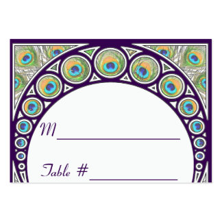 Art Nouveau Peacock Table Number Place Cards Business Card Templates