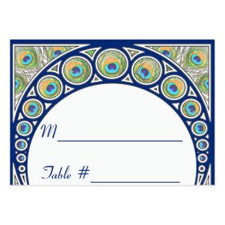 Art Nouveau Peacock Table Number Place Cards Business Cards