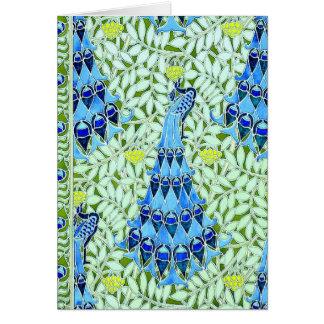 Art Nouveau Peacocks Card