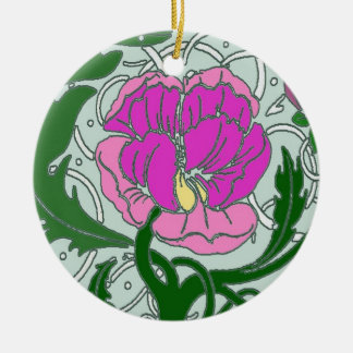 Art Nouveau Peony Ornament