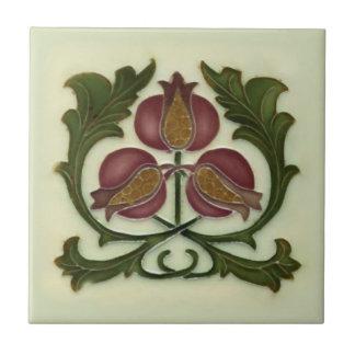 Art Nouveau Pomegranate Reproduction Antique Tile