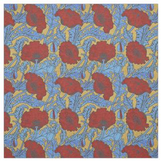 Art Nouveau Poppies 1897 - 002 Fabric