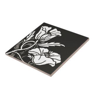 Art Nouveau Poppies Ceramic Tile or Trivet