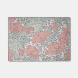 Art nouveau poppies post-it notes