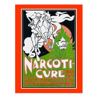 Art Nouveau Poscard:  Narcoti-Cure by Will Bradley Postcard