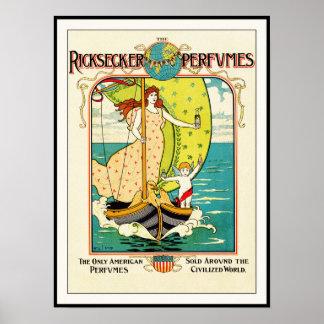 Art Nouveau Poster Print: Perfume Ad by L.Rhead