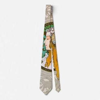 Art Nouveau Profile 1895 Tie