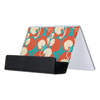 art nouveau, red,blue,beige,floral,belle époque,vi desk business card holder